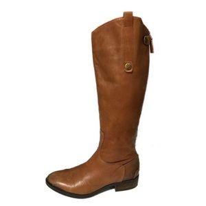 Sam Edelman   Cognac Tall Distressed Riding Boots